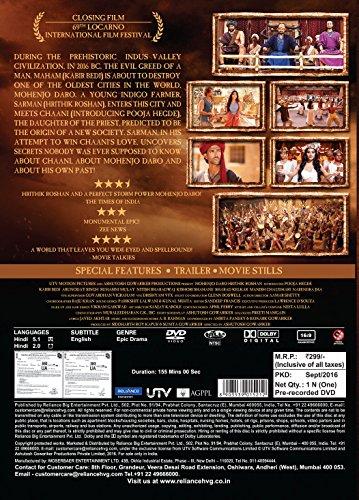 Mohenjo Daro Hindi DVD ( All Regions, English Subtitles )