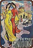 DIAN CLUB Visit Vietnam Saigon Wand Blechschild Eisen