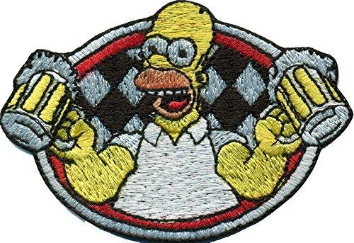 Bier Homer Simpson Oktoberfest Wappen Bierzelt Biker Aufnäher Abzeichen Patch (Homer Bier)