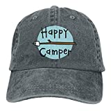 Asekngvo Baseball Cap Happy Camper 2 Men Women Snapback Casquettes Adjustable Baseball Cap Color2