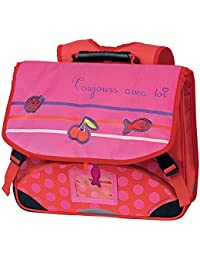 Cartable rose CAROLINE LISFRANC 2 compartiments 38cm