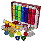 Set of 8 Extra Large and Extra Bright Musical Christmas Crackers with Handbells by Robin Reed