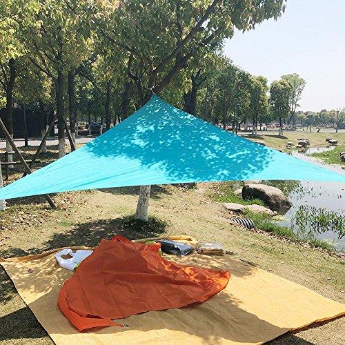 Triangolo vela parasole impermeabile giardino cortile, all' aperto, campeggio, picnic, con corda, blu