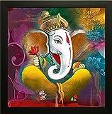 #2: SAF 'Ganesh Religious' Painting (Synthetic, 35 cm x 3 cm x 35 cm, SA100004)