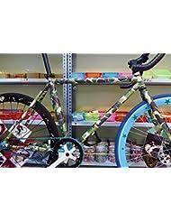 Cool Bike decoraciones fija bicicleta de engranaje de la etiqueta para el marco de la bicicleta - camuflaje