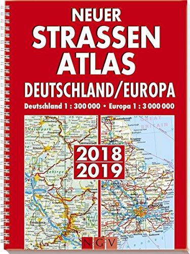 Preisvergleich Produktbild Neuer Straßenatlas Deutschland/Europa 2018/2019: Deutschland 1 : 300 000 . Europa 1 : 3 000 000