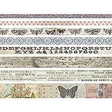 Unbekannt Tim Holtz Design Tape Schmetterling, Papier, mehrfarbig, 4,1x 4,1x 13,3cm