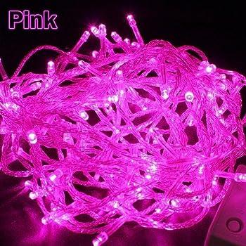 Ytmtm 100 led 17m pink solar powered fairy light waterproof vollter20m 200 led string fairy lights led strip with uk 220v plug for christmas tree light pink aloadofball Gallery