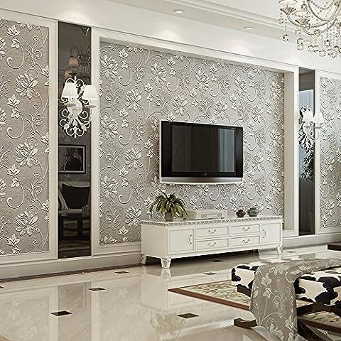 BIZHI Moderne Tapeten Art-Deco-3D einfache moderne Tapete Wandverkleidung Vliesstoff Wandkunst,Lila