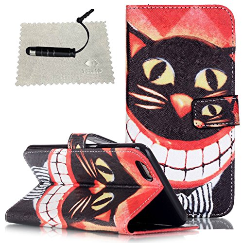 Cover per iPhone 6s Plus Custodia Protettiva in Pelle PU,TOCASO Podello Colorato Ultra Morbido Bookstyle Cover Flip Wallet Case con il Supporto di Carta Pouch Magnete Stand View Caso per iPhone 6 Plus Cat
