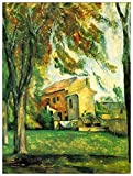 ArtPlaza Cezanne Paul Pond of the Jas de Bouffan in Winter Pannello Decorativo, Legno, Multicolore, 90x120 cm
