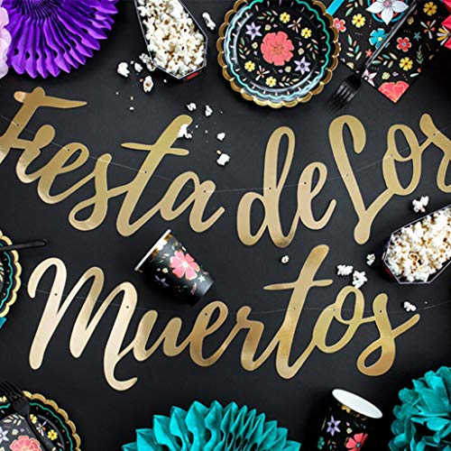 chriftzug Fiesta de Los Muertos 1,6 m Wanddeko Raumdeko Halloween ()