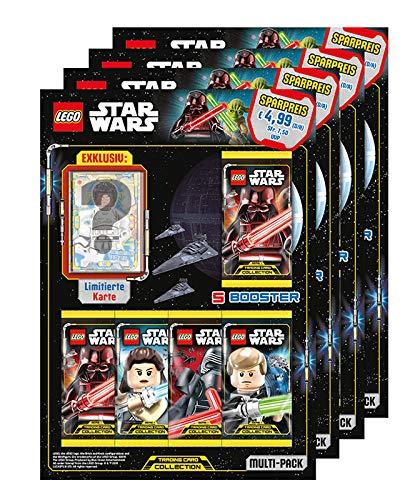 Unbekannt Lego Star Wars - Serie 1 Trading Cards - Alle 4 Verschiedene Multipacks - Deutsch