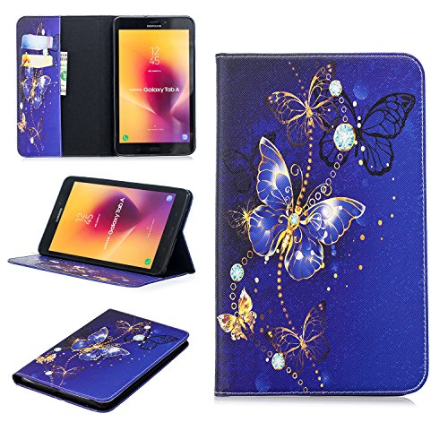Funda® 3D Relief Muster Flip Brieftasche Hülle für Samsung Galaxy Tab A 8.0 (2017) 8.0 inches (Muster 3) - Samsung Tab Funda 3 8