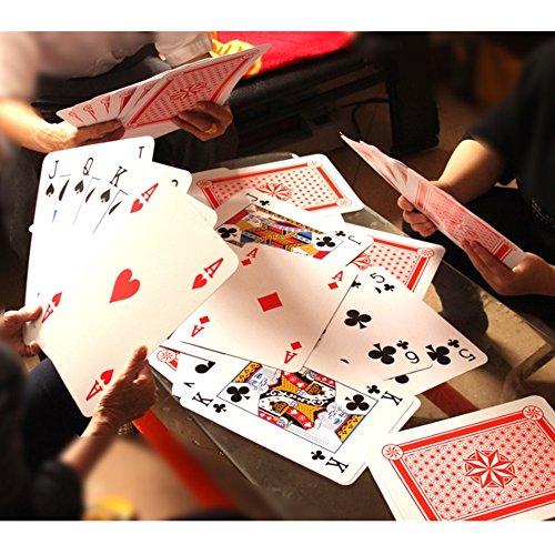 TRIXES Jumbo Spiel-Karten (203 x 279 mm) 52 Karten und zwei Joker
