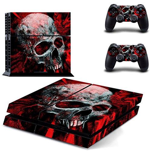 Preisvergleich Produktbild Skin-Aufkleber für PS4, Sopear Vinyl Skull Pattern Full Schutzhülle Skin Cover Sticker Aufkleber Set für Sony PS4 Console DualShock Controller