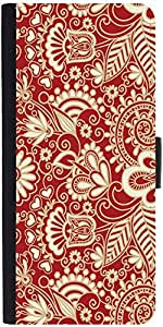 Snoogg Floral Red And Whitedesigner Protective Flip Case Cover For Sony Xperi...