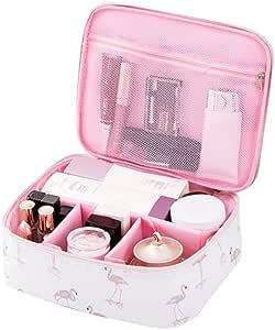 trousse de maquillage mallette de maquillage Trousse de toilette de voyage Bodhi2000 organiseur de maquillage Blue Flamingo taille unique