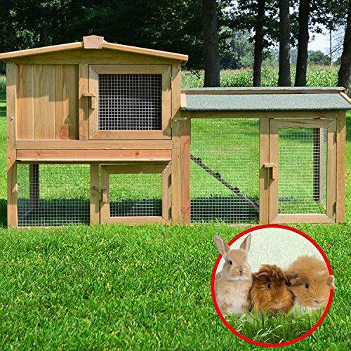 Stall 1 PL Kaninchenstall Hasenstall Kaninchenkäfig Hasenkäfig Meerschweinchenstall - 5