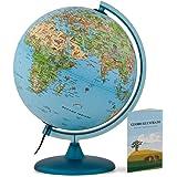 Tecnodidattica – Mappamondo Safari 25 per Bambini e Ragazzi | Luminoso e girevole | Cartografia illustrata e libretto con Inf