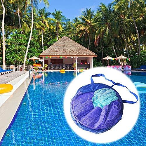 Cherishly Roll-Up-Pool Float, Mehrzweck-Hängematte (Sattel, Sessel, Hängematte, Drifter), tragbare Pool Float Mat, aufblasbare Schwimmbett Mesh Float frugal -