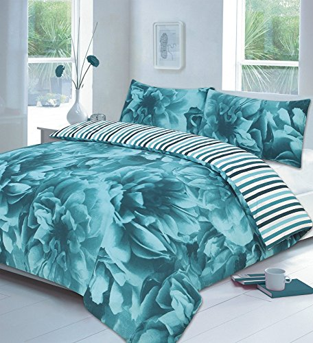 home-tlc-rose-floral-reversible-striped-duvet-quilt-cover-pillowcase-bedding-set-single-double-king-