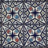 Handbemalte marokkanische Fliese orientalische Keramik Fliese Motiv Mosaikfliese