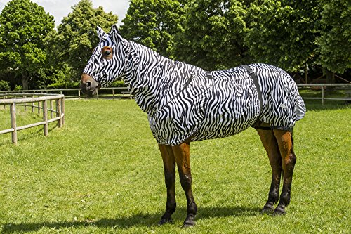 EQUITHÈME Ausreitdecke Fliegendecke Pferdedecke Sweet Itch Zebra 206cm 400114269