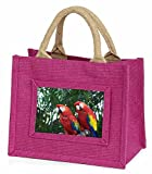 Advanta Ara Papageien in Palm Tree Little Mädchen Einkaufstasche Weihnachten Geschenk, Jute, pink,...