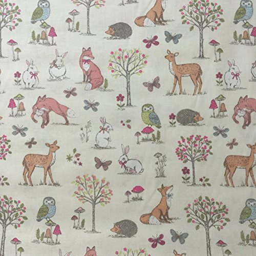 Woodland curtains for Animal print fabric for kids