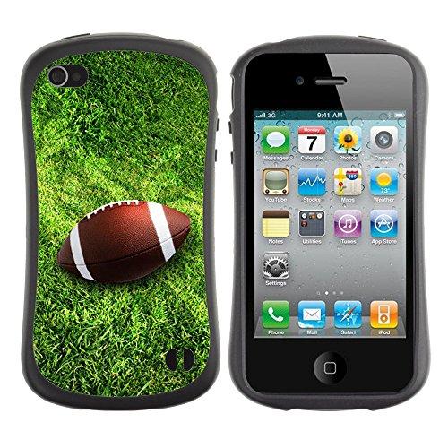 Graphic4You Amerikaner Fußball Football Sport Design Harte Hülle Case Tasche Schutzhülle für Apple iPhone 4 und 4S Design #3