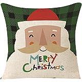 Pillowcase de Noël, Reaso Image de style simple Festival de la décoration intérieure de canapé du Père Noël Housse de coussin (E)