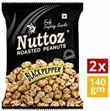 #3: Nuttoz Black Pepper Roasted Peanuts 140gm (Pack of 2)