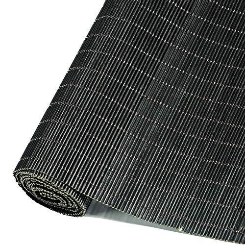 Persiana enrollable Cortina de Bambu- Tipo De Gancho Bambú Black Roller Shades, 60% Protección UV para Puerta De Ventana, Sin Cenefa (Ancho 80cm-140cm) (Size : 45x150cm)