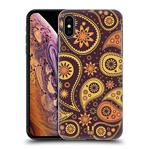Head Case Designs Pflaume Paisley Muster Serie 2 Ruckseite Hülle für iPhone XS Max