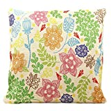 Best Linen Store Furniture Couches - Wise Bird Easter Holiday Floral Flower Leaf Cotton Review