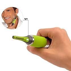 Micro t ctil Depiladora afeitadora LED para cuello Cejas Bigote Nariz o do corps de precisi n Micro Sharp Trim Touch