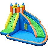 Ouqian Aufblasbare Hüpfburg Haushalt Hüpfburg Große Hallen- und Freizeitpark Ball Pool im Freien Slide Aufblasbarer Prahler (Farbe : Multi-Colored, Size : 400x310x230cm)