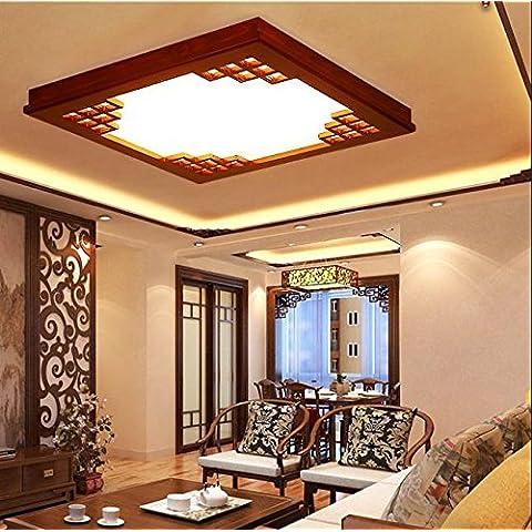 APSD-Illuminazione calda Legno massello, in stile cinese, lampada da soffitto,