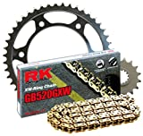 RK Racing Chain 4107-989SG Steel Rear Sprocket and GB520GXW Chain 520 Steel Conversion Kit