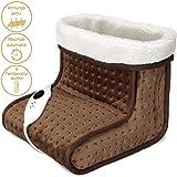 Chauffe-pieds électrique botte chauffante chancelière 6 niveaux de température lavable 100W doux affichage numérique