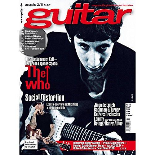 Guitar Ausgabe 02 2011 - The Who - mit CD - Interviews - Workshops - Playalong Songs - Test und Technik