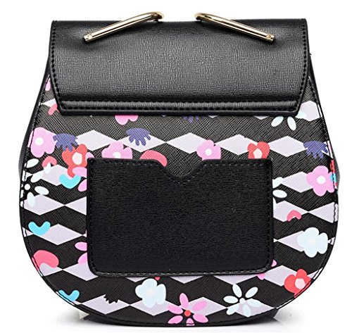 Great Strange Borse da donna Borse a tracolla Top Fashion Lock Buckle Singole spalle ragazze Shopping , pink black