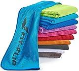 Kühlendes Handtuch 120x35cm, Mikrofaser Sporthandtuch kühlend, Kühltuch, Cooling Towel, Mikrofaser Handtuch| Farbe: blau, Größe: 120x35cm
