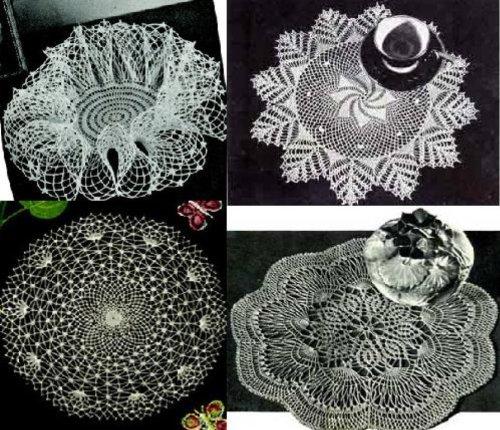 5 Tapetitos ganchillo lacey y luces de ganchillo por Unknown