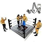 QUICK SILVER Ultimate Warrior Power Flex Force WWE Set of 4 Wrestling Action Figures Models Toy for Kids