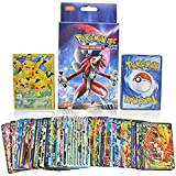 Pack of 100 Cards Rare EX GX + Mega Cards with 3 Surprise Energy Cards