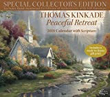 Official Thomas Kinkade Special Collector's Edition with Scripture 2018 Deluxe Wall Calendar