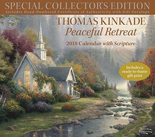Thomas Kinkade Peaceful Retreat With Scripture 2018 Calendar