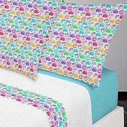 Juego de Sábanas completo Manterol Colors 223 para cama de 90 cm.